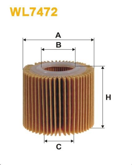 Фильтр масляный, WIX WL7472, Filtron OE 685/2