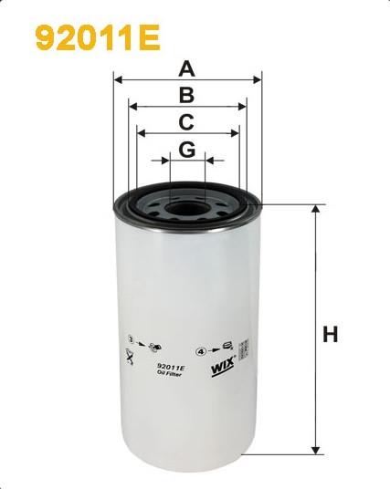 Фильтр масляный, WIX 92011E, Filtron OP 626/2
