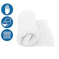 Махровое полотенце для рук и лица 40х70см плотность 430 г/м2 хлопок с бардюром петлевое Туркменистан белое