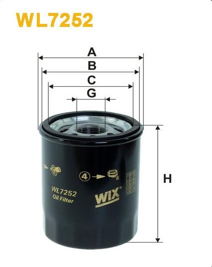 Фильтр масляный, WIX WL7252, Filtron OP 545/2