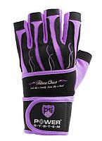 Перчатки для фитнеса и тяжелой атлетики женские Power System Fitness Chica PS-2710 M Purple, фото 1