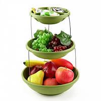 Складная подставка миска для чипсов фруктов Twistfold Party Bow (Green)