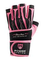 Перчатки для фитнеса и тяжелой атлетики женские Power System Fitness Chica PS-2710 M Pink, фото 1