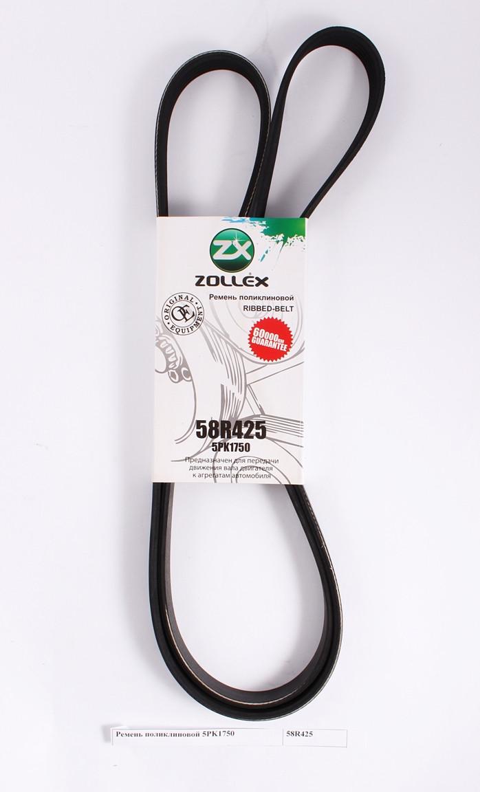 Zollex Ремінь поліклиновий, 5PK1750 Logan з ГУР з АС, Kangoo 1.4