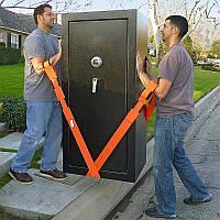 🔝 Такелажные ремни для переноски грузов, мебели, кробок (ART 6684) Оранж 4,5см на 2,6м с доставкой | 🎁%🚚
