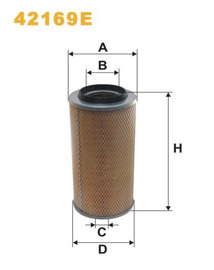WIX 42169 Фильтр воздушный (WA6068) AM 406