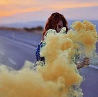 Жовтий дим для фотосесії, Кольоровий дим Maxsem, кольоровий дим, жовтий дим (Середня насиченість)