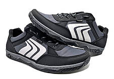 Кросівки чоловічі демісезонні, сірі, фото 3
