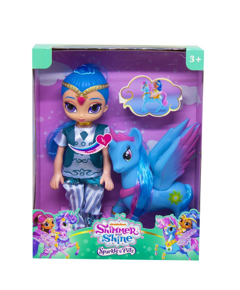 "Кукла музыкальная  ""Шайн"" 25см с фигуркой пони Shimmer and Shine"