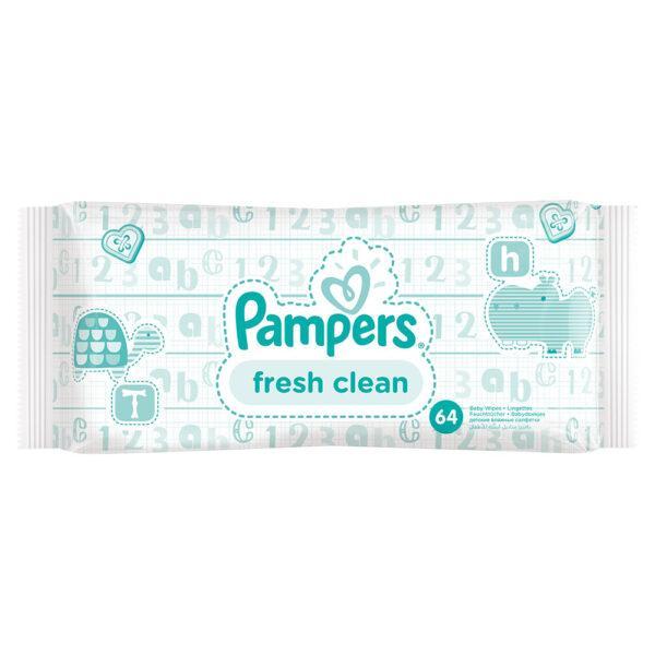 Детские влажные салфетки Pampers Baby Fresh Clean 64 шт