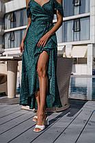 Шикарное шелковое платье на запах, фото 3