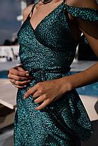 Шикарное шелковое платье на запах, фото 2
