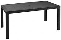 Стол пластиковый ротанг Melody, серый, фото 1