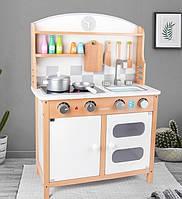 Детская игровая кухня. Дитяча кухня. Деревянная белая детская кухня. Отличный подарок