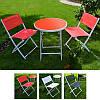 Комплект садовий стіл + 2 стільці Stenson MH-2746, 3 кольори