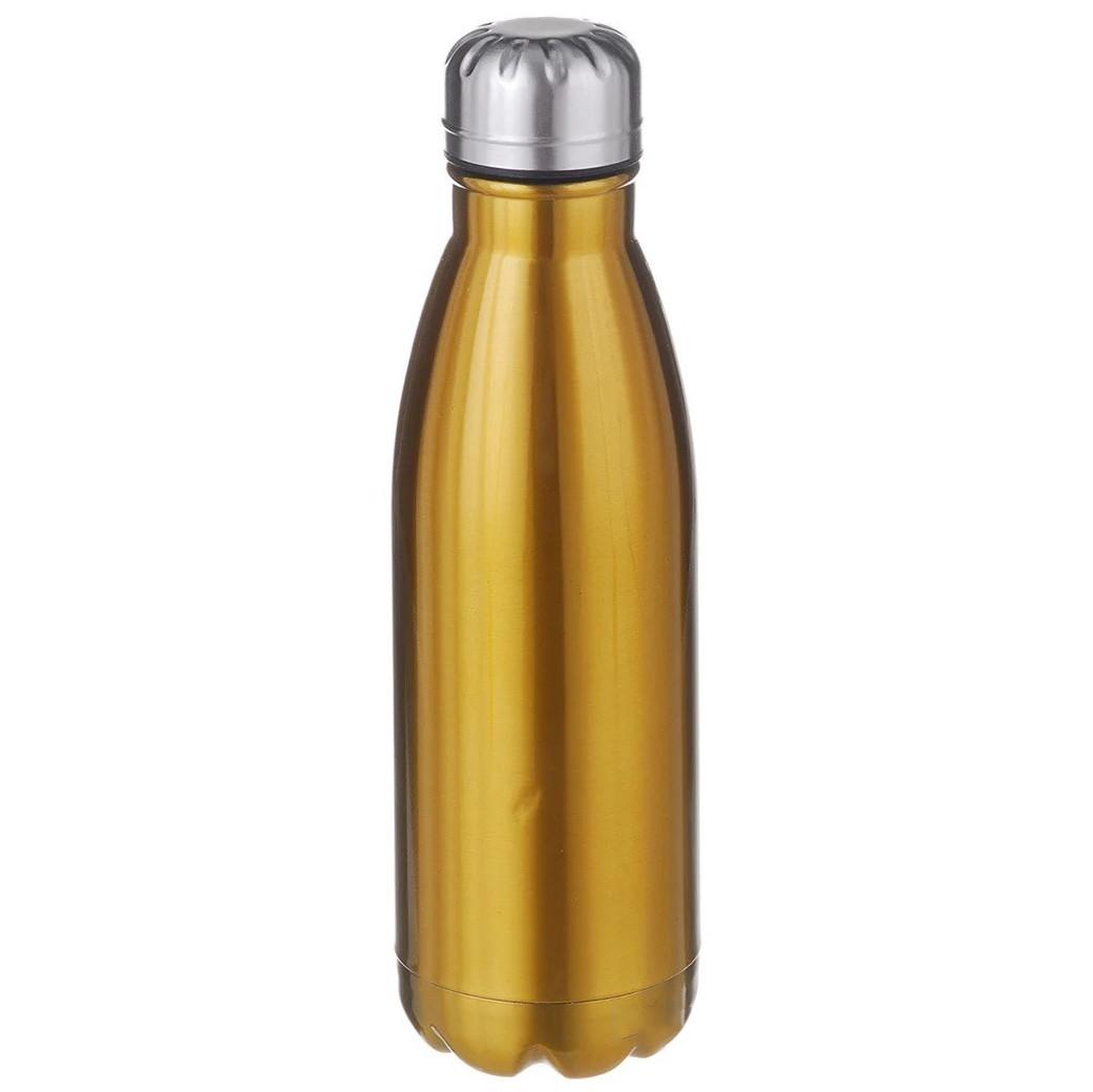 Термос бутылка питьевой A-PLUS 500 мл Золотой перламутр нержавеющая сталь