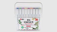 Набор скетч-маркеров 36 шт для рисования двусторонних Aihao sketchmarker, код: PM508-36, фото 3