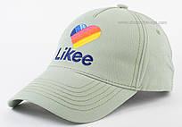Женская бейсболка цвета брезент с вышивкой Likee
