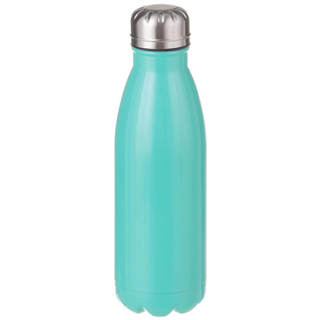 Термос бутылка питьевой A-PLUS 500 мл Бирюзовый перламутр нержавеющая сталь