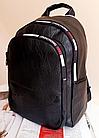 Женский рюкзак на молнии в черном цвете