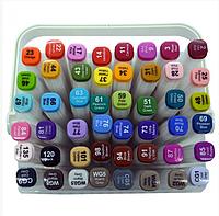 Набор скетч-маркеров 48 шт. для рисования двусторонних Aihao sketchmarker код: PM508-48
