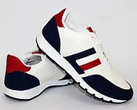 Мужские кроссовки для прогулок с сине красными вставками, фото 1