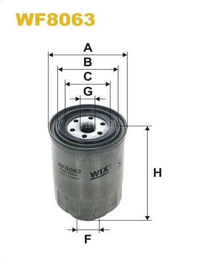 WIX WF8063 Фільтр паливний Filtron PP 857