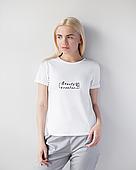 Женская футболка Модерн, белый принт Beauty creator
