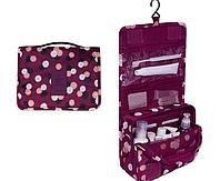 Дорожный органайзер Monopoly toiletry pouch. Бордовый в цветочки. УЦЕНКА, фото 1