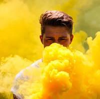 Жовтий дим для фотосесії, Кольоровий дим Jorge, кольоровий дим, жовтий дим (Висока насиченість)
