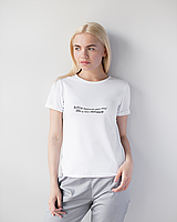 Женская футболка Модерн, белый принт Manicure, фото 1