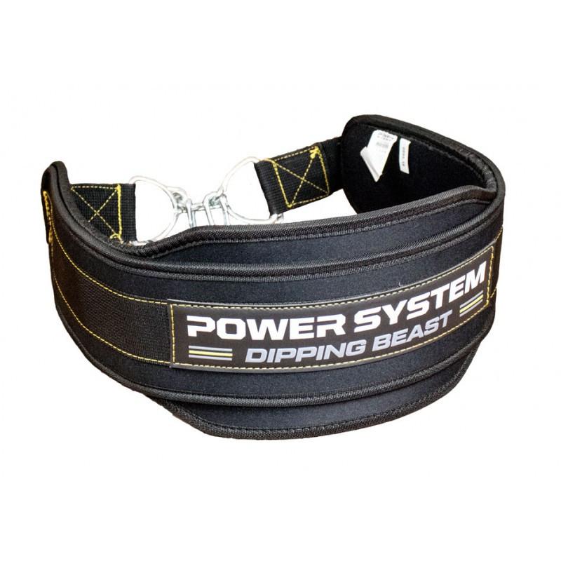 Пояс для отягощений Power System Dipping Beast PS-3860 Black/Yellow