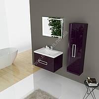 Комплект мебели для ванной комнаты Marsan Monique 60 см баклажан
