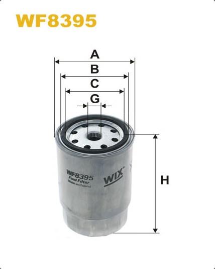 WIX WF8395 Фільтр паливний Filtron PP 979/2