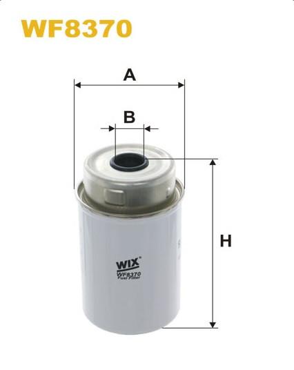 WIX WF8370 Фільтр паливний Filtron PP 848/5