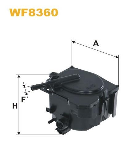 WIX WF8360 Фільтр паливний Filtron PS 974/1