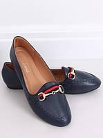 Балетки женские, синие женские туфли лодочки