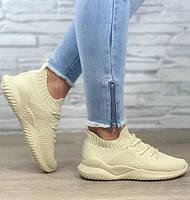 Светлые женские кроссовки на шнуровке, фото 1