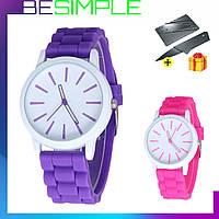 Стильные наручные женские часы Geneva / Кварцевые часы + Нож-визитка в Подарок