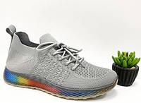 Летние беговые кроссовки в сером
