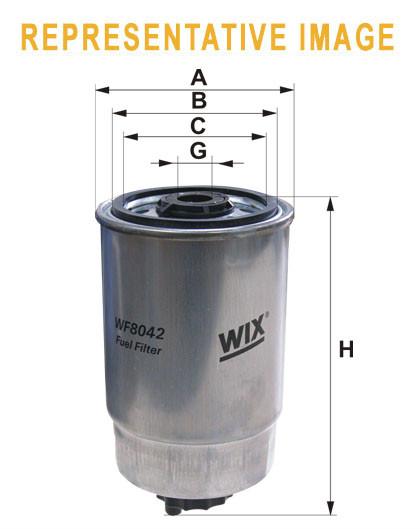 WIX WF8327 Фільтр паливний Filtron PP 968/2