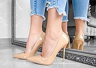 Лакированные женские туфли лодочки на высоком каблуке, фото 1