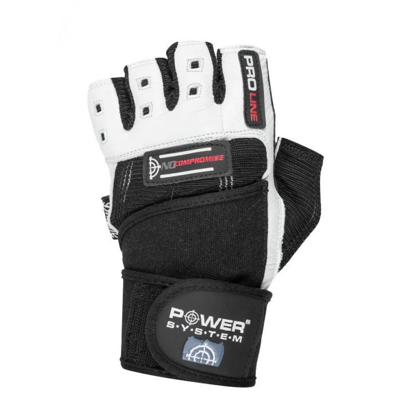 Перчатки для фитнеса и тяжелой атлетики Power System No Compromise PS-2700 L Black/White