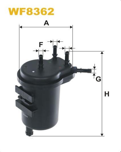 WIX WF8362 Фільтр паливний Filtron PS 980/2