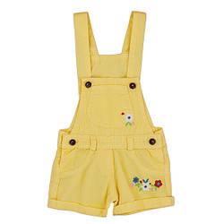 Котоновый комбинезон-шорты для девочки с вышивкой