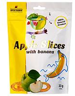 Слайсы яблочные сушеные с бананом Apple Slices, 33г