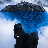 Синій дим для фотосесії, Кольоровий дим Jorge smoke, синій дим (Висока насиченість)
