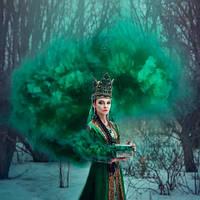 Зелений дим для фотосесії, Кольоровий дим Jorge, зелений дім (Висока насиченість)