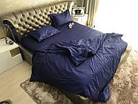 Полуторный комплект постельного белья Страйп-Сатин (100% Хлопок)