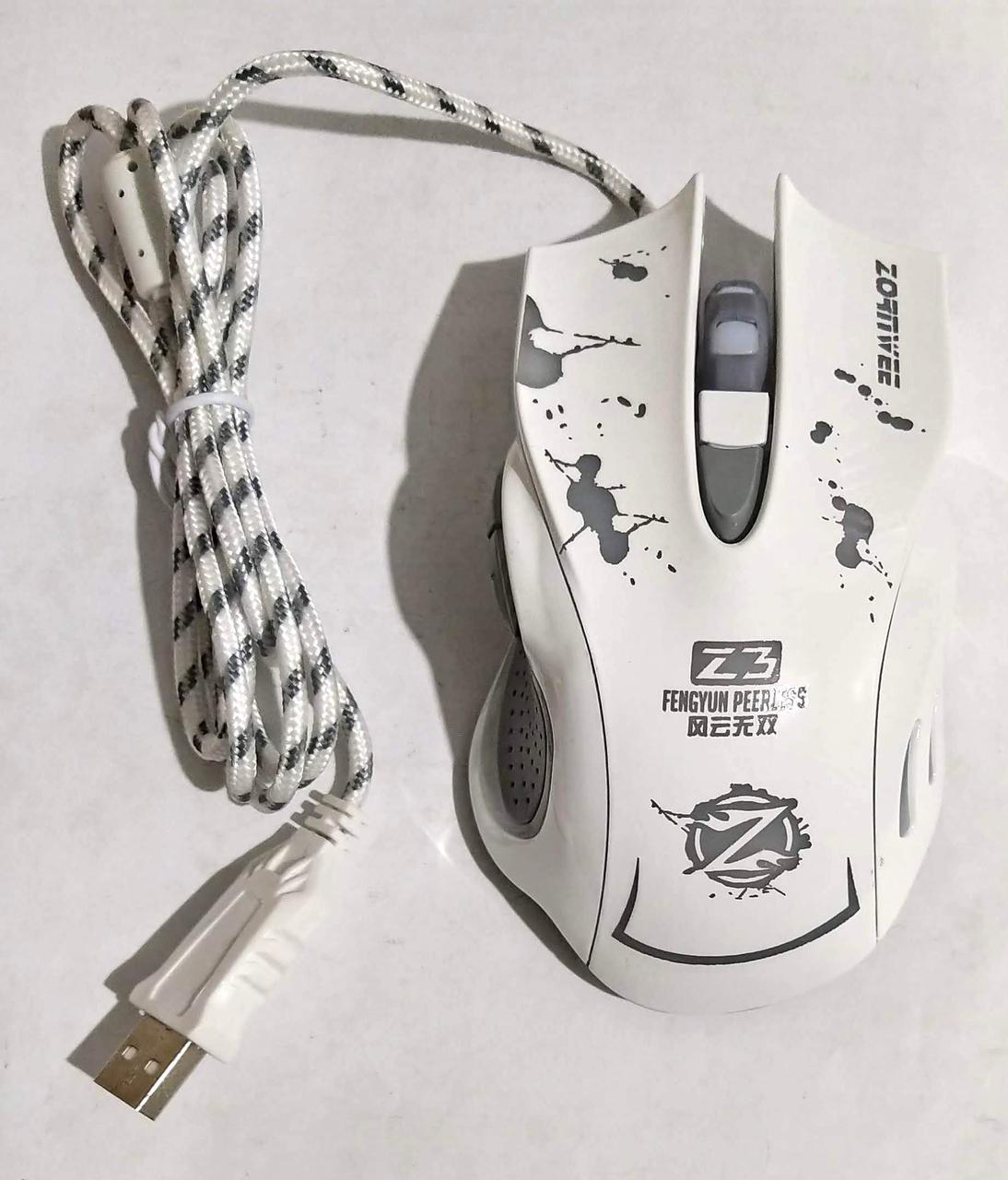 """Мишка для ПК """"Gaming Z3"""" White"""